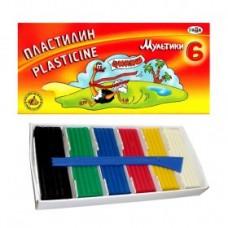 Пластилин 6 цветов мультики 120 гр. 280015