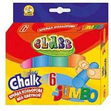 Крейда кольорова кругла JUMBO, 6 кол,, 23*107мм,7605 CLASS