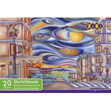 Альбом д/малювання А4 20арк на пружині ZB.1440